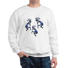 Blue & Gray Kokopelli Sweatshirt