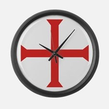 Templar Cross Large Wall Clock