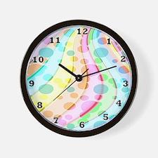 Polka Dot Wave Wall Clock