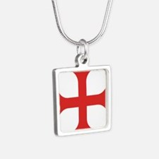 Maltese Order Silver Square Necklace