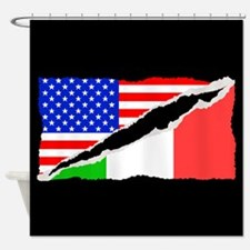 Italian American Flag Shower Curtain