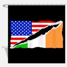 Irish American Flag Shower Curtain