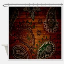Paisley Wall Shower Curtain
