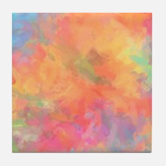 Colorburst Tile Coaster