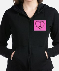 Cute Hippie love Women's Zip Hoodie