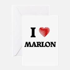 I love Marlon Greeting Cards