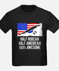 Half Korean Half American Awesome T-Shirt