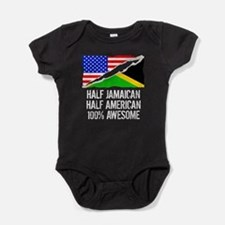 Half Jamaican Half American Awesome Baby Bodysuit