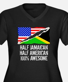 Half Jamaican Half American Awesome Plus Size T-Sh