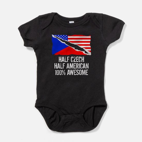 Half Czech Half American Awesome Baby Bodysuit