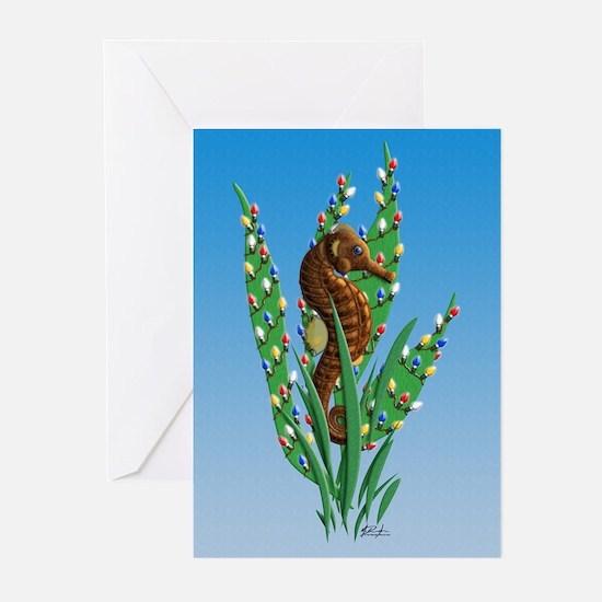 Christmas Seahorse Greeting Cards (Pk of 20) {MK}