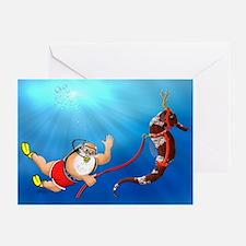 Scuba Santa Claus Greeting Cards (Pk of 20) {MK}