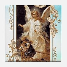 Angel of God (Day) Tile Coaster