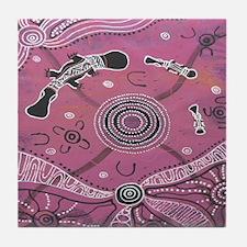 Platypus Dreaming Pink Tile Coaster
