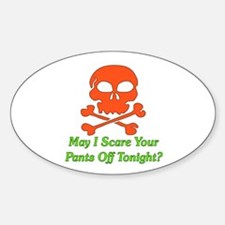 Halloween Pickup Line Oval Decal
