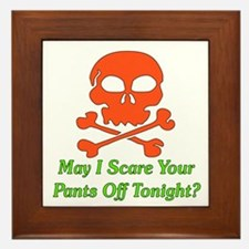 Halloween Pickup Line Framed Tile