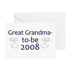 Great Grandma-to-Be 2008 Greeting Cards (Pk of 20)