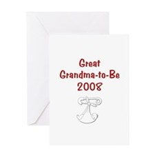 Great Grandma-to-Be 2008 Greeting Card