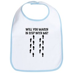 March with me Bib