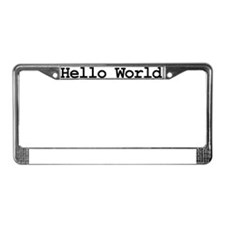 Cool Techie License Plate Frame