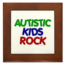 Autistic Kids Rock 1 (Primary) Framed Tile