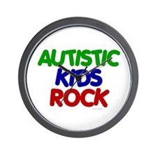 Autistic Kids Rock 1 (Primary) Wall Clock