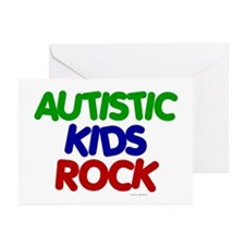 Autistic Kids Rock 1 (Primary) Greeting Cards (Pk