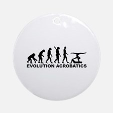 Evolution Acrobatics Round Ornament