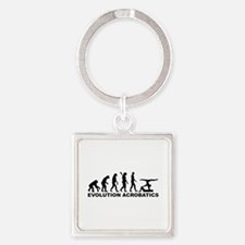 Evolution Acrobatics Square Keychain
