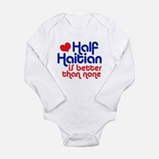 Cool Haitian Long Sleeve Infant Bodysuit