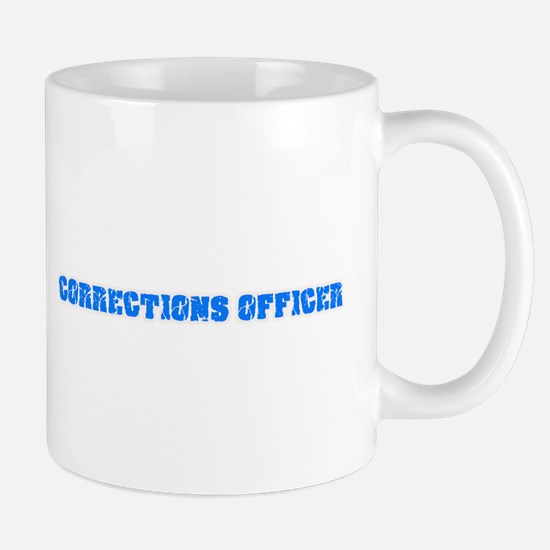 Corrections Officer Blue Bold Design Mugs