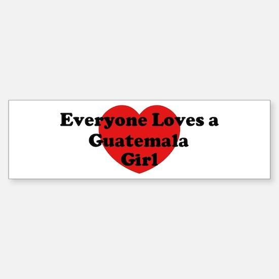 Guatemala girl Bumper Bumper Bumper Sticker
