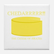 Cheddarrrr!!! The Cheese of Pirates Tile Coaster