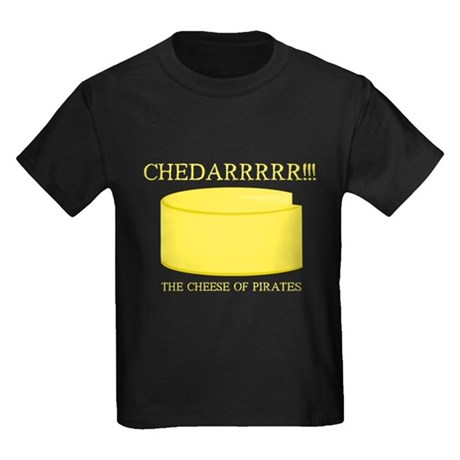 Cheddarrrr!!! The Cheese of Pirates Kids Dark T-Sh