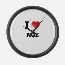 I love Noe Large Wall Clock