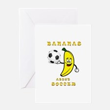 Bananas About Soccer Greeting Cards
