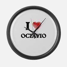 I love Octavio Large Wall Clock