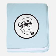 Sea Captain Smoke Pipe Circle Retro baby blanket