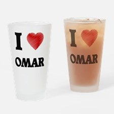 I love Omar Drinking Glass