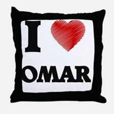 I love Omar Throw Pillow