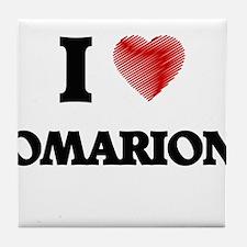 I love Omarion Tile Coaster