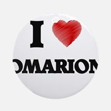 I love Omarion Round Ornament
