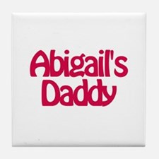 Abigail's Daddy Tile Coaster