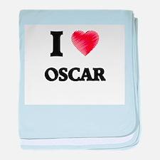 I love Oscar baby blanket