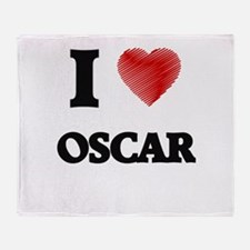 I love Oscar Throw Blanket