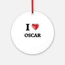 I love Oscar Round Ornament