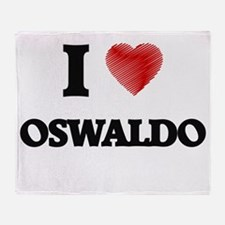 I love Oswaldo Throw Blanket