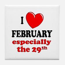 February 29th Tile Coaster