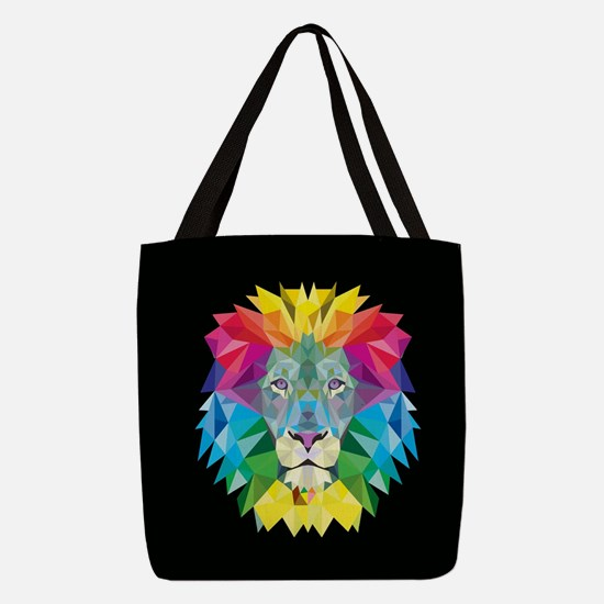 Rainbow Lion Polyester Tote Bag