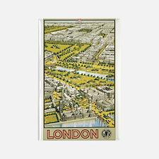 Vintage Urban London Travel P Rectangle Magnet